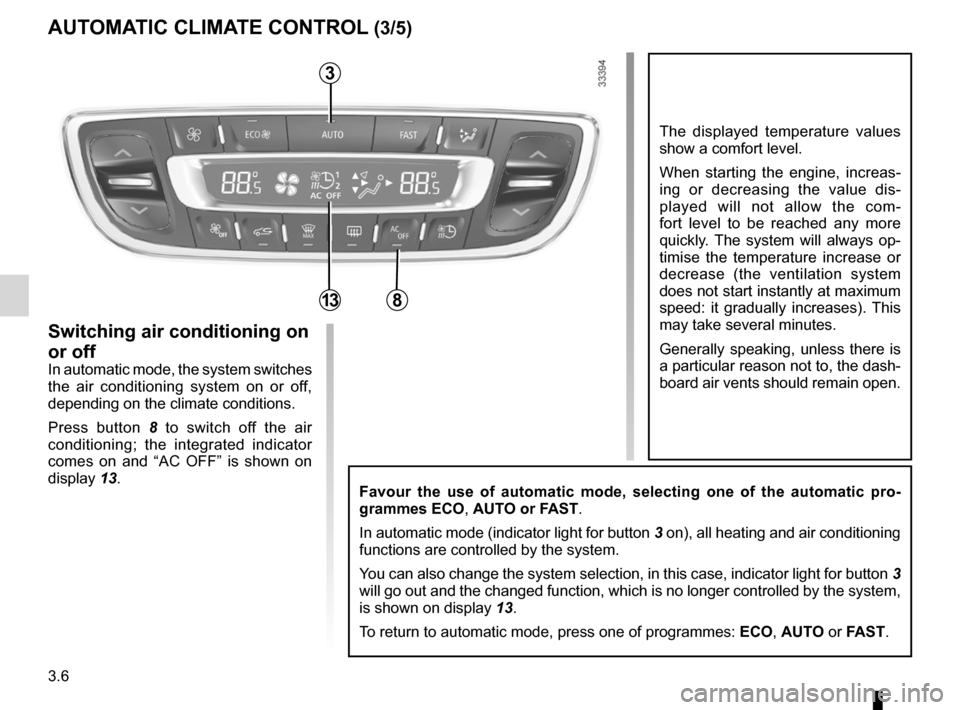 RENAULT FLUENCE ZERO EMISSION 2012 1.G Owners Manual, Page 109