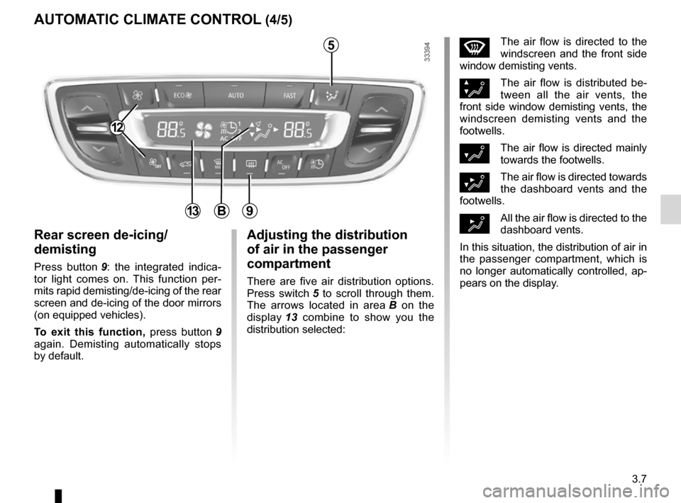 RENAULT FLUENCE ZERO EMISSION 2012 1.G Owners Manual, Page 110
