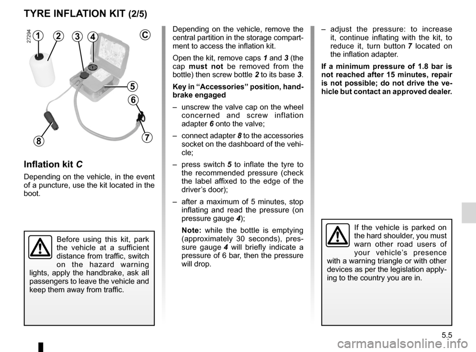 RENAULT FLUENCE ZERO EMISSION 2012 1.G Owners Manual, Page 142