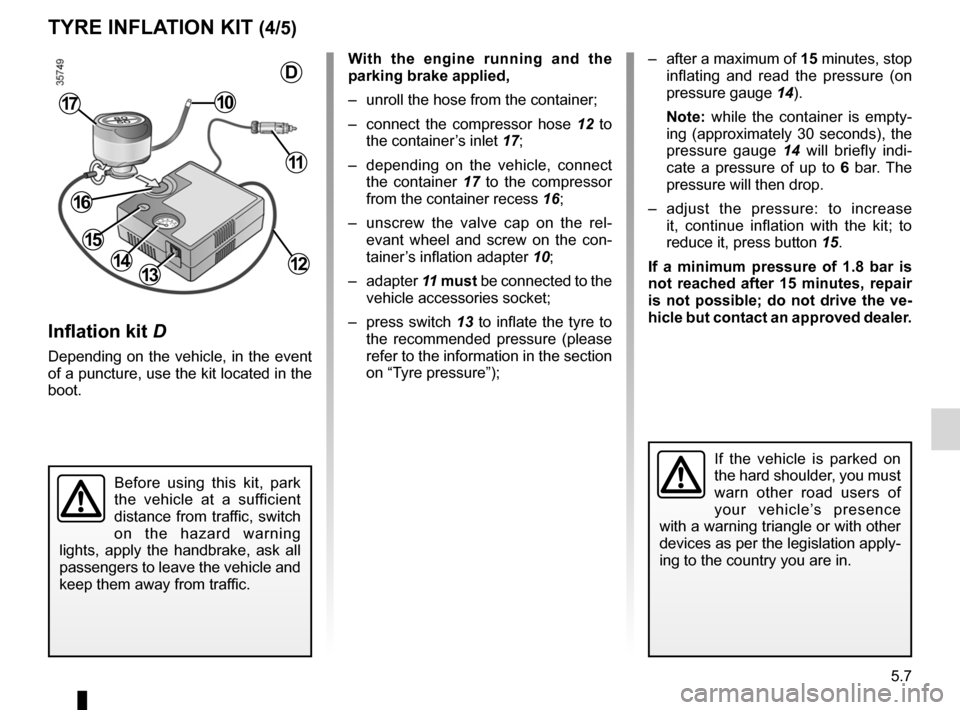 RENAULT FLUENCE ZERO EMISSION 2012 1.G Owners Manual, Page 144
