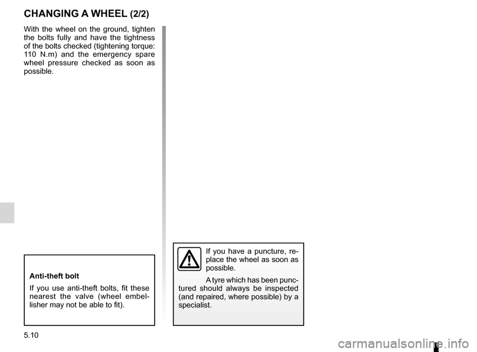 RENAULT FLUENCE ZERO EMISSION 2012 1.G Owners Manual, Page 147