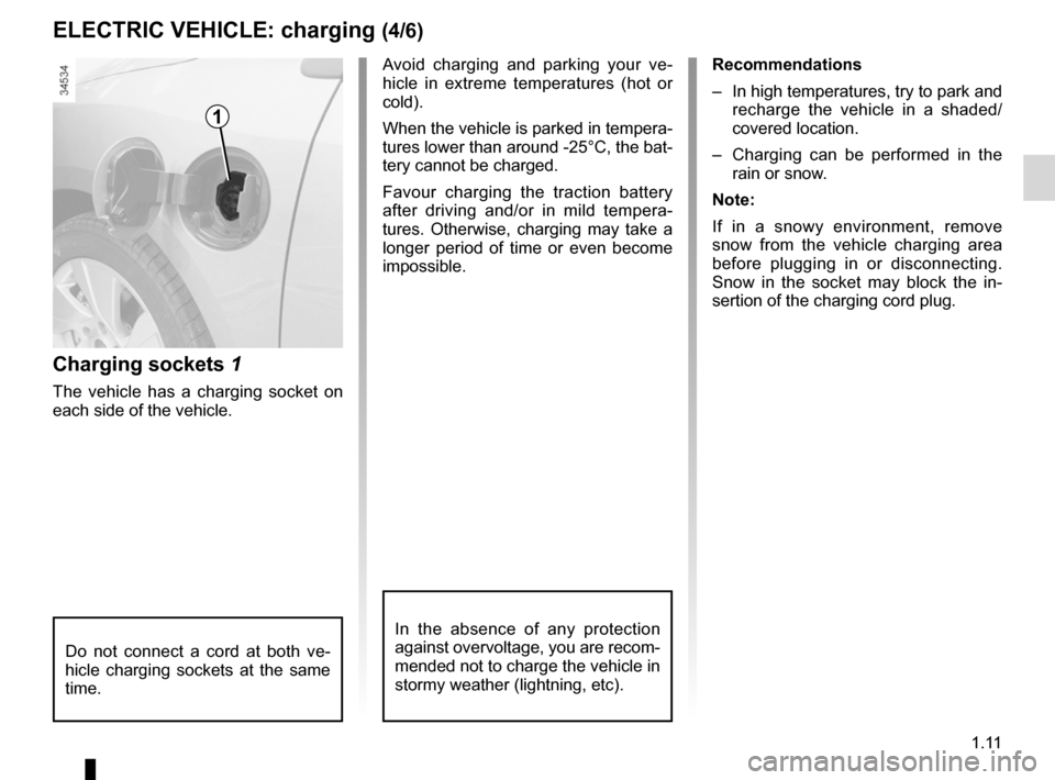 RENAULT FLUENCE ZERO EMISSION 2012 1.G Owners Manual, Page 16