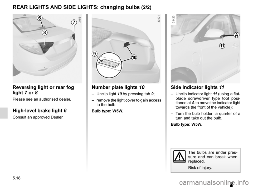 RENAULT FLUENCE ZERO EMISSION 2012 1.G Owners Manual, Page 155