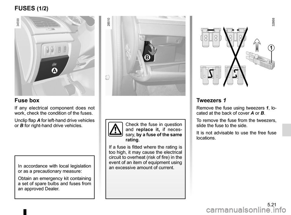 RENAULT FLUENCE ZERO EMISSION 2012 1.G Owners Manual, Page 158