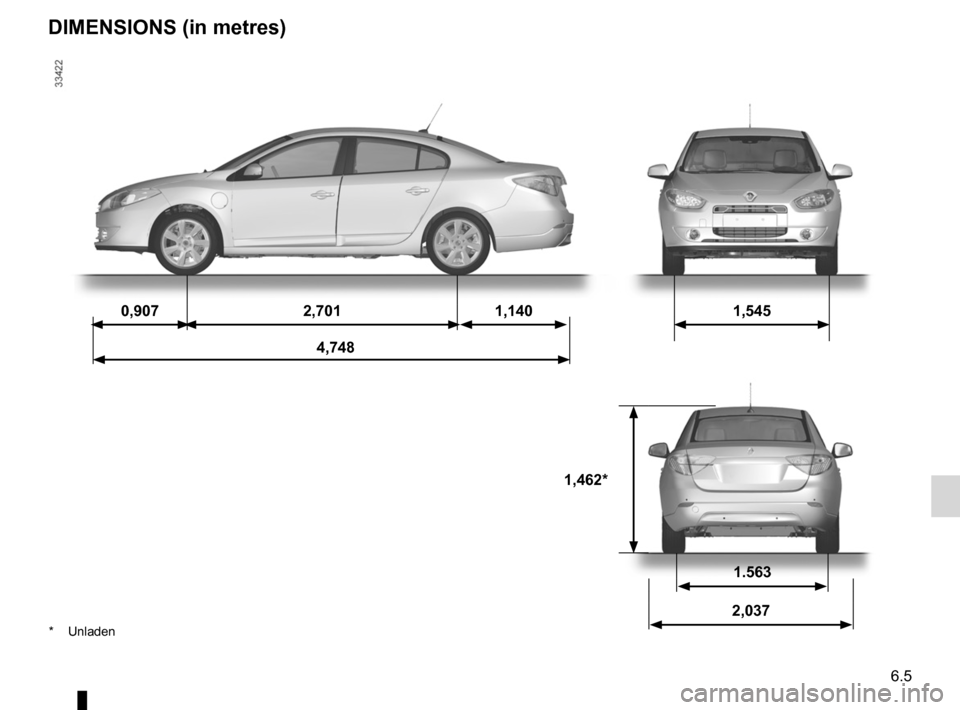 RENAULT FLUENCE ZERO EMISSION 2012 1.G Owners Manual, Page 176