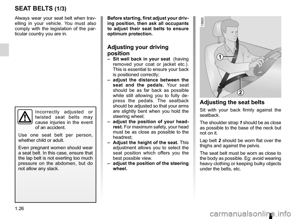 RENAULT FLUENCE ZERO EMISSION 2012 1.G Owners Manual, Page 31