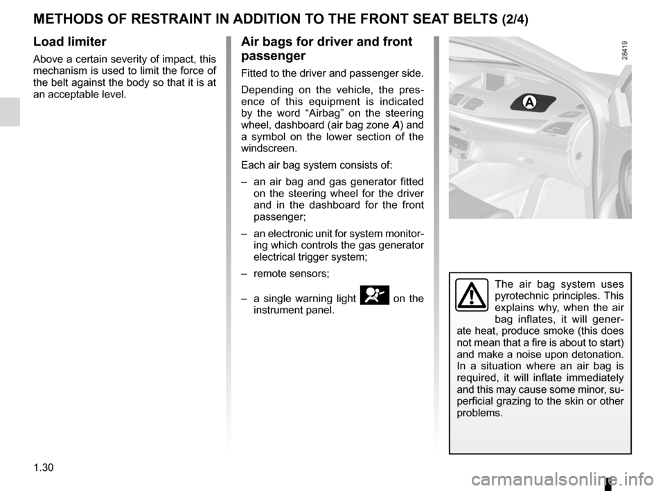RENAULT FLUENCE ZERO EMISSION 2012 1.G Owners Manual, Page 35