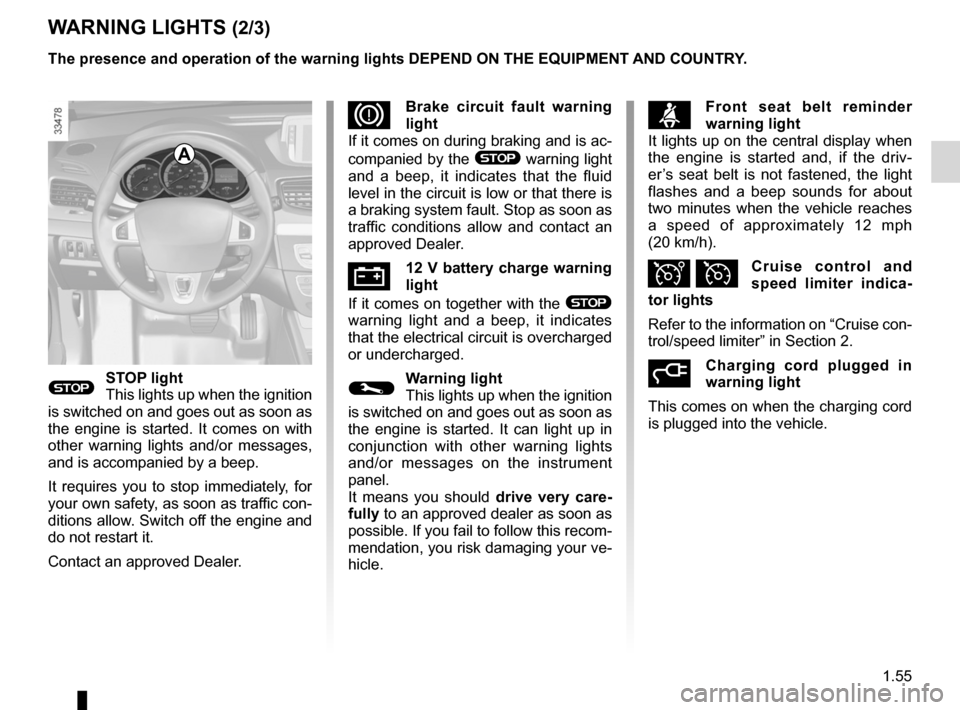 RENAULT FLUENCE ZERO EMISSION 2012 1.G Owners Manual, Page 60