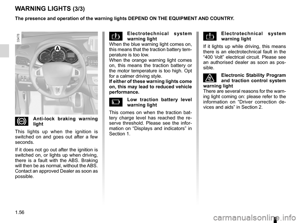 RENAULT FLUENCE ZERO EMISSION 2012 1.G Owners Manual, Page 61