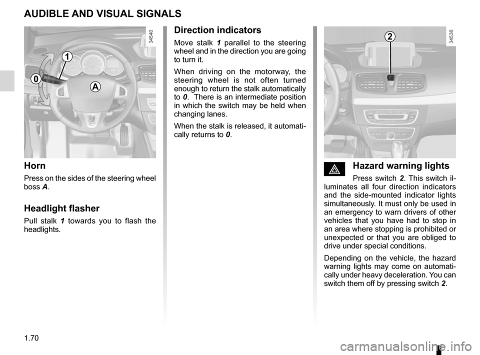 RENAULT FLUENCE ZERO EMISSION 2012 1.G Owners Manual, Page 75