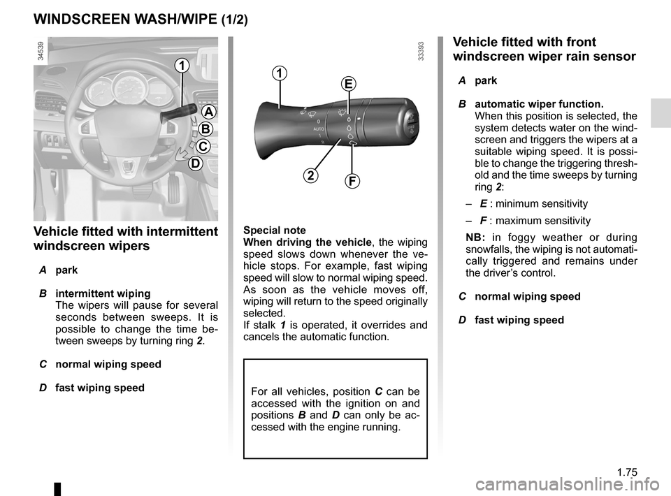 RENAULT FLUENCE ZERO EMISSION 2012 1.G Owners Manual, Page 80