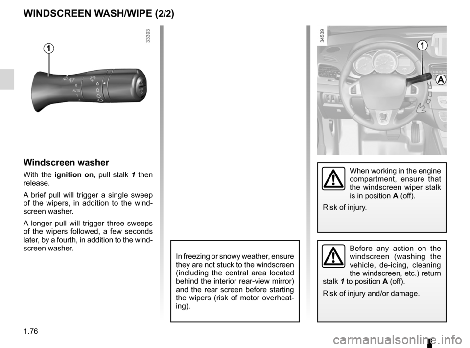 RENAULT FLUENCE ZERO EMISSION 2012 1.G Owners Manual, Page 81