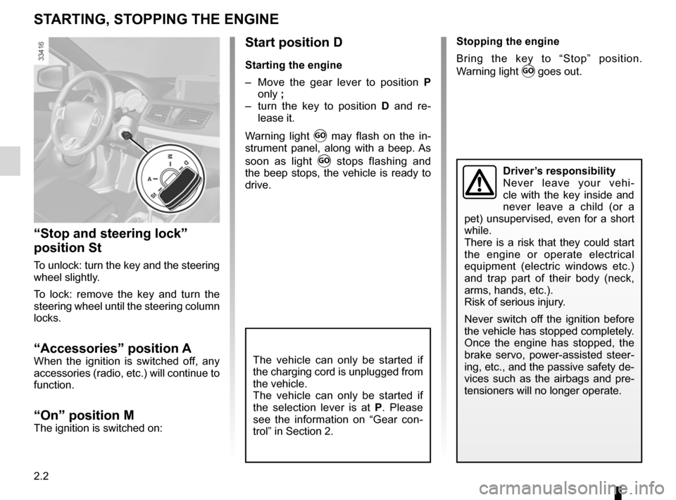 RENAULT FLUENCE ZERO EMISSION 2012 1.G Owners Manual, Page 83