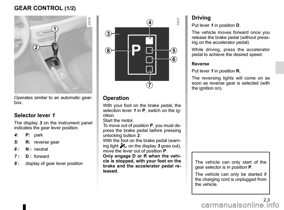 RENAULT FLUENCE ZERO EMISSION 2012 1.G Owners Manual, Page 84