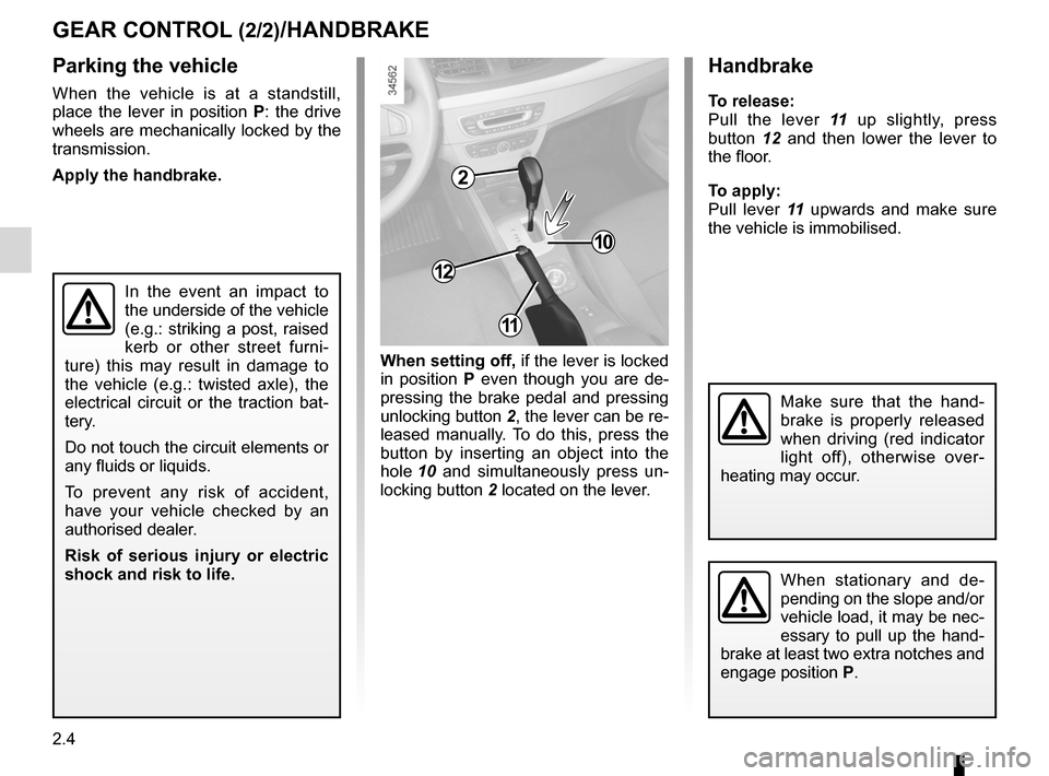 RENAULT FLUENCE ZERO EMISSION 2012 1.G Owners Manual, Page 85