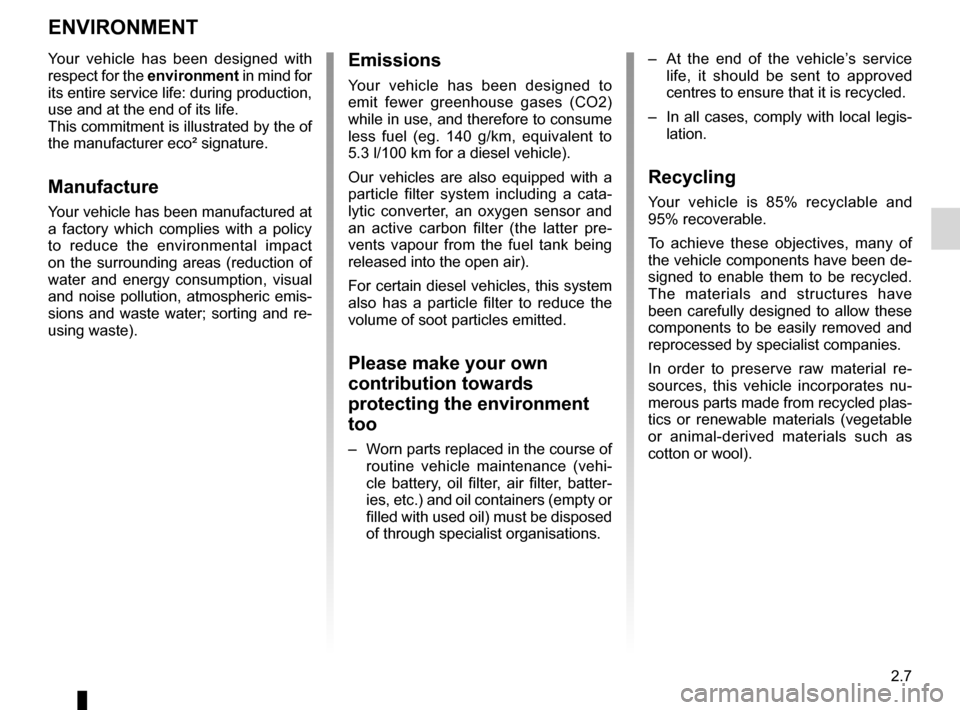 RENAULT FLUENCE ZERO EMISSION 2012 1.G Owners Manual, Page 88