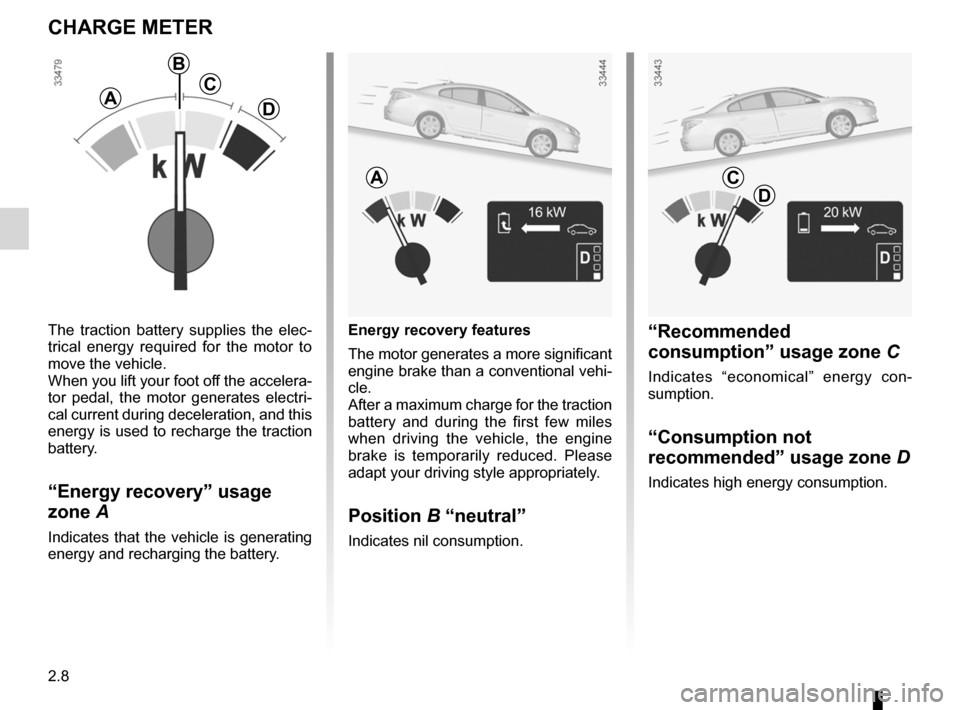RENAULT FLUENCE ZERO EMISSION 2012 1.G Owners Manual, Page 89