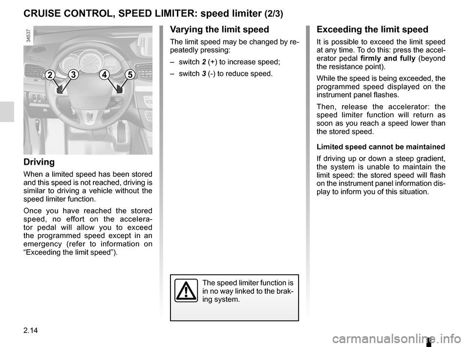 RENAULT FLUENCE ZERO EMISSION 2012 1.G Owners Manual, Page 95
