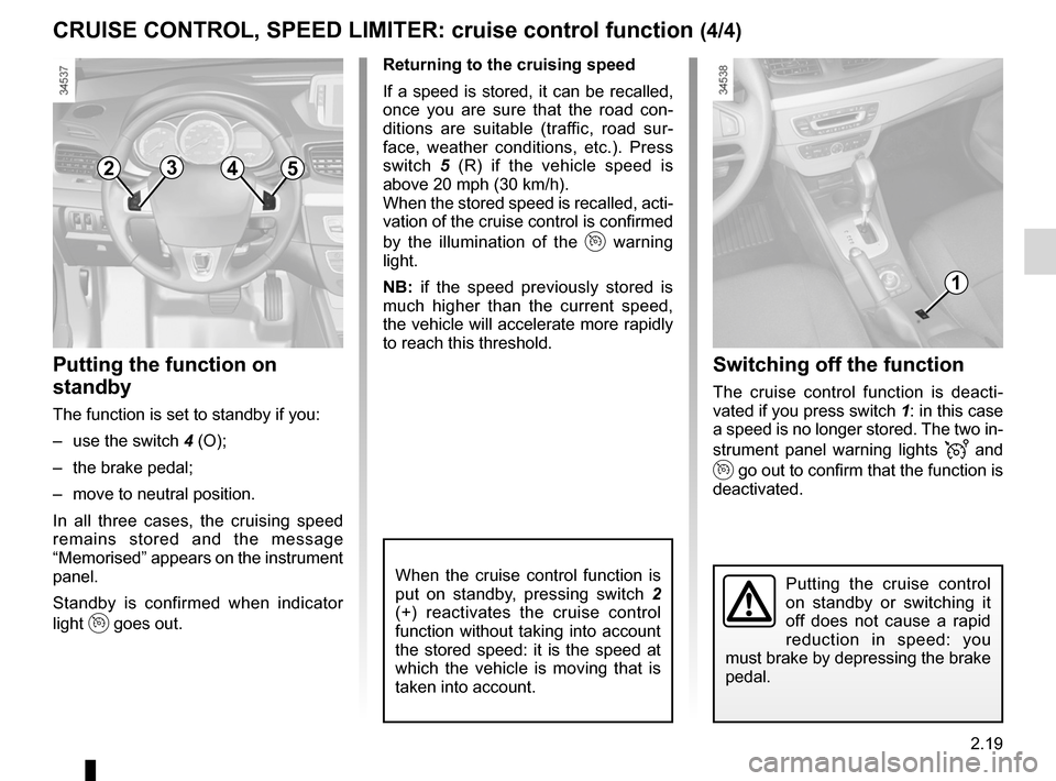 RENAULT FLUENCE ZERO EMISSION 2012 1.G Owners Manual, Page 100