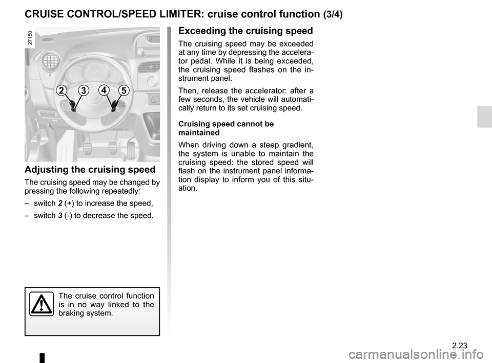 RENAULT KANGOO 2012 X61 / 2.G Owners Manual, Page 109