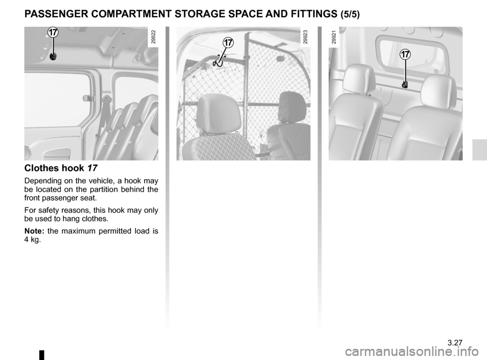 RENAULT KANGOO 2012 X61 / 2.G Owners Manual, Page 143