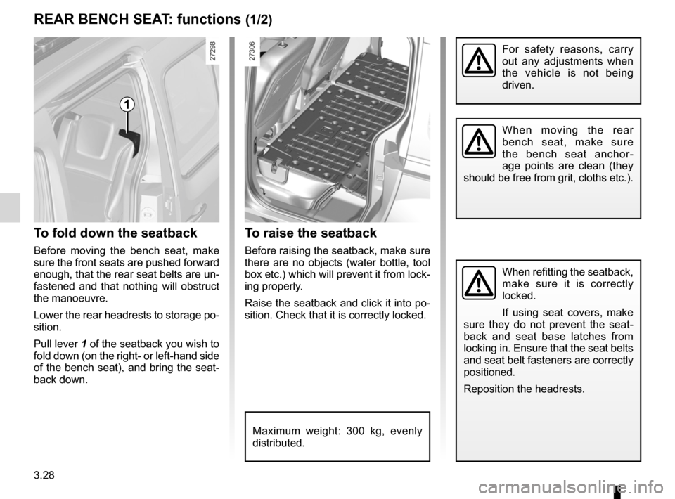 RENAULT KANGOO 2012 X61 / 2.G Owners Manual, Page 144