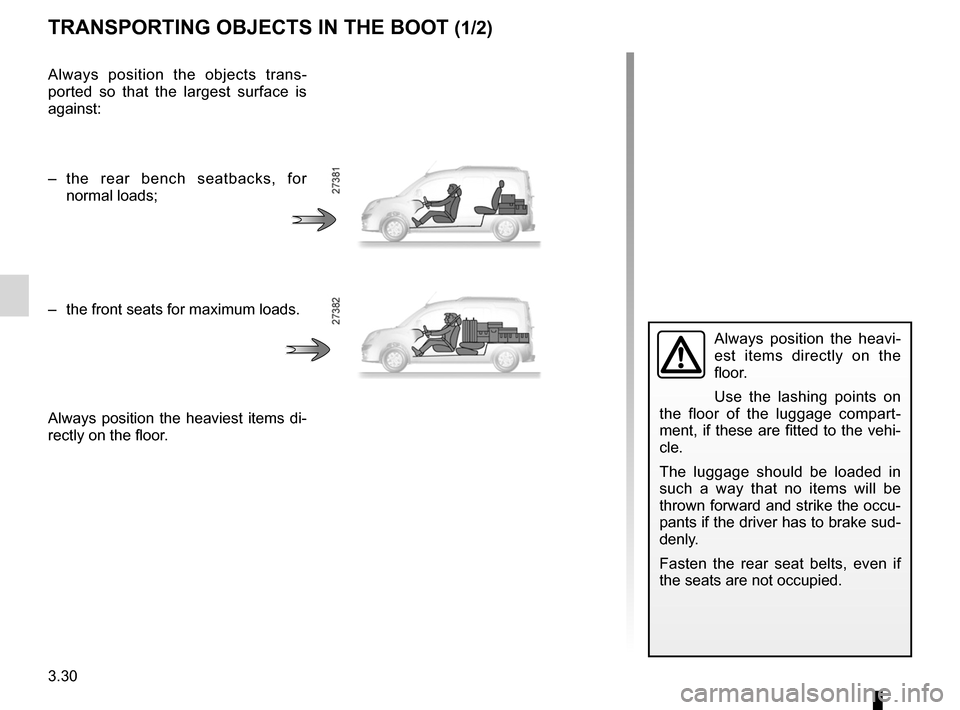 RENAULT KANGOO 2012 X61 / 2.G Owners Manual, Page 146