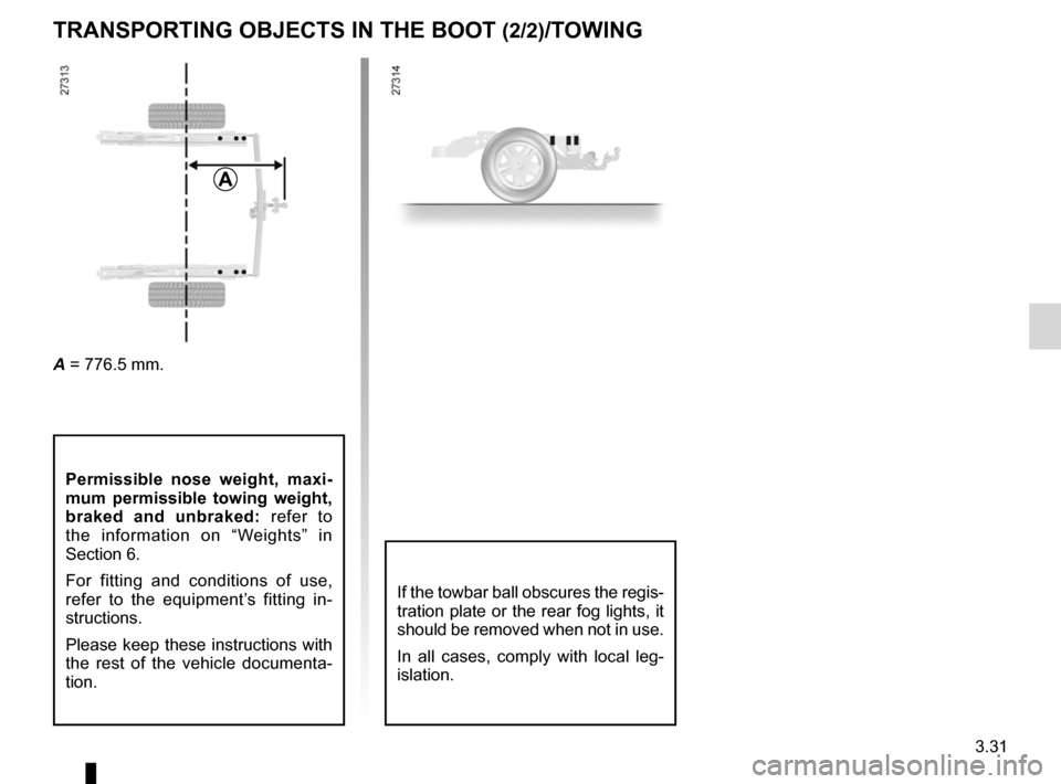 RENAULT KANGOO 2012 X61 / 2.G Owners Manual, Page 147