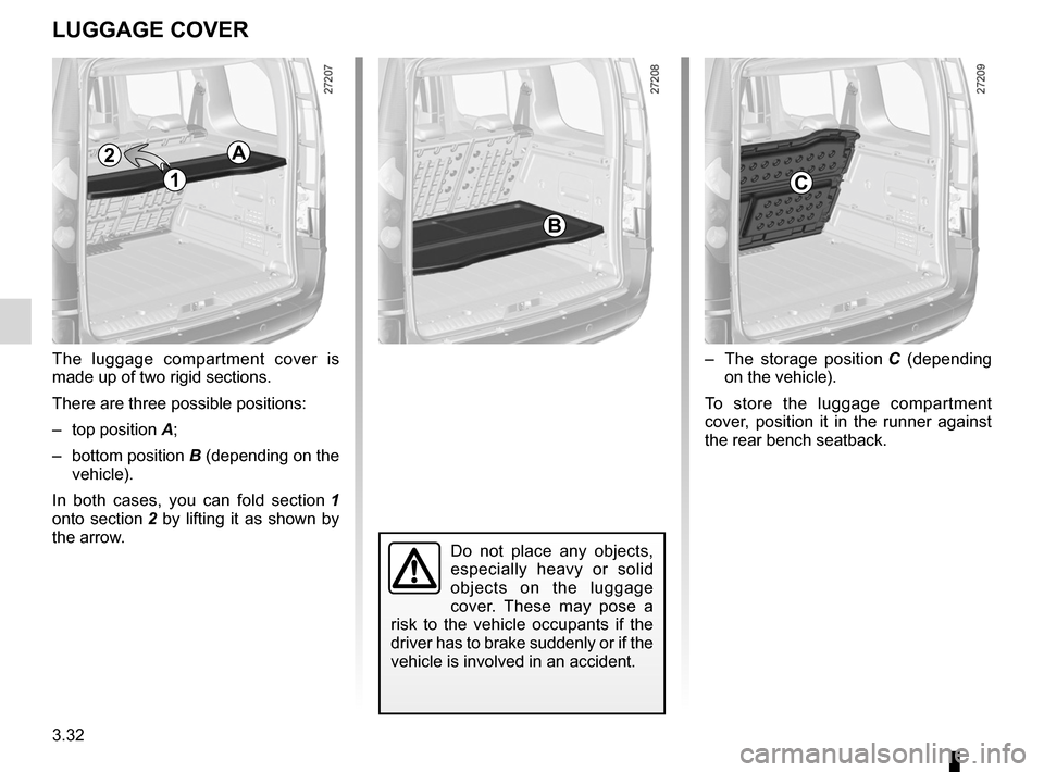 RENAULT KANGOO 2012 X61 / 2.G Owners Manual, Page 148