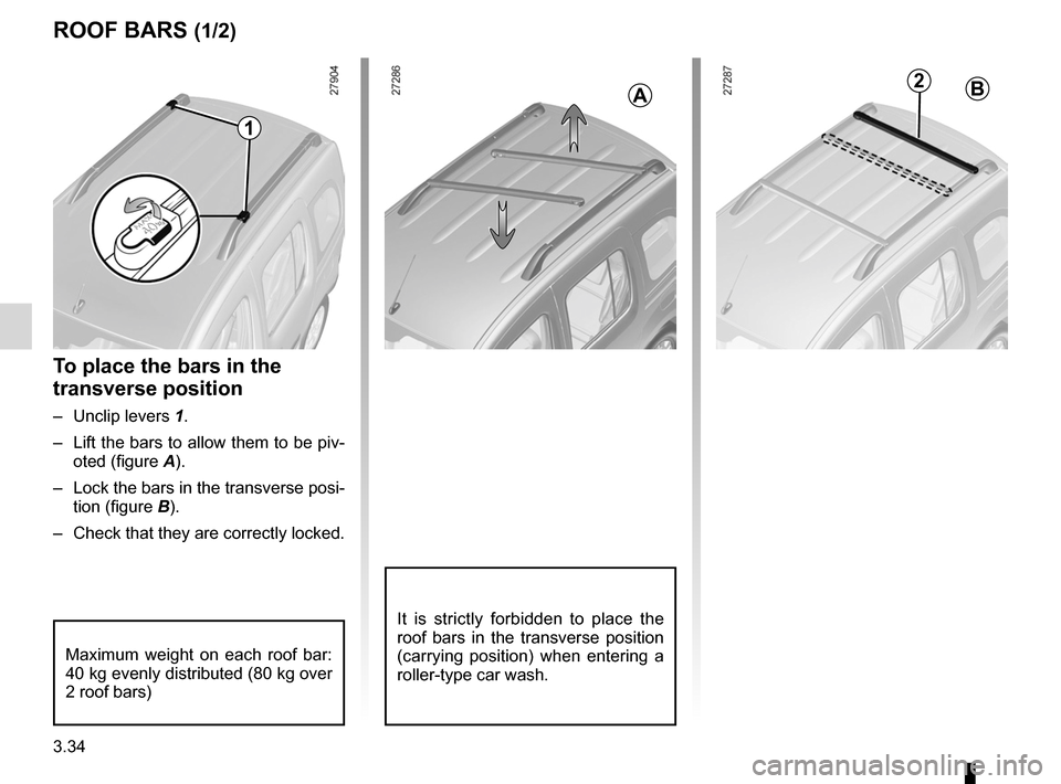 RENAULT KANGOO 2012 X61 / 2.G Owners Manual, Page 150