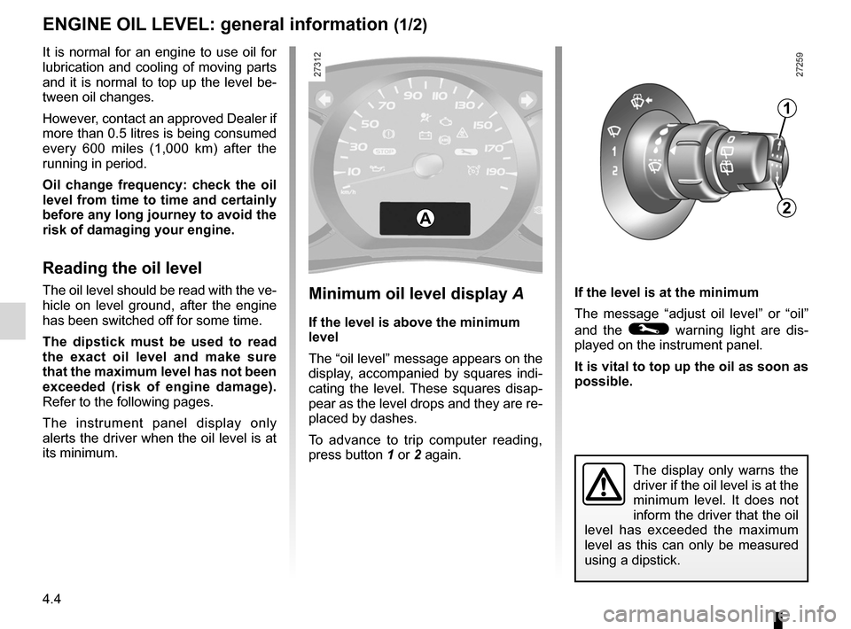 RENAULT KANGOO 2012 X61 / 2.G Owners Manual, Page 156