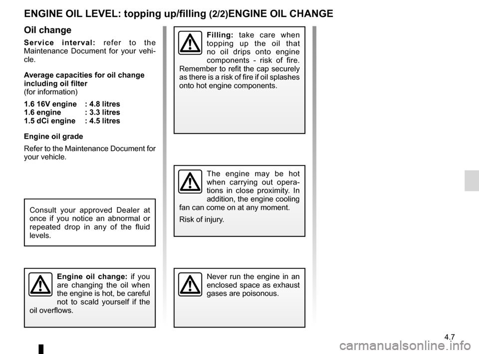 RENAULT KANGOO 2012 X61 / 2.G Owners Manual, Page 159