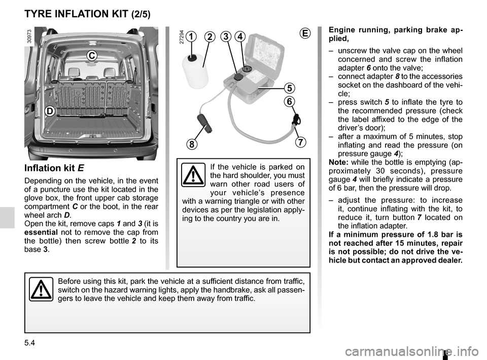 RENAULT KANGOO 2012 X61 / 2.G Owners Manual, Page 174