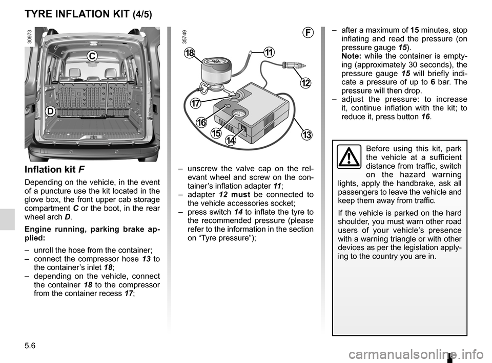 RENAULT KANGOO 2012 X61 / 2.G Owners Manual, Page 176