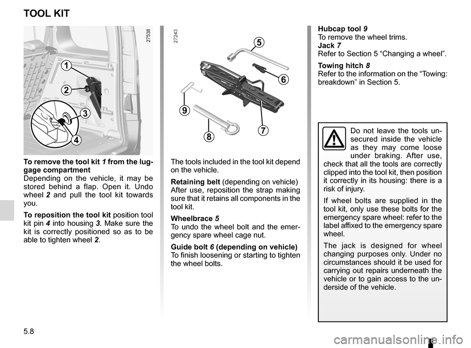 RENAULT KANGOO 2012 X61 / 2.G Owners Manual, Page 178