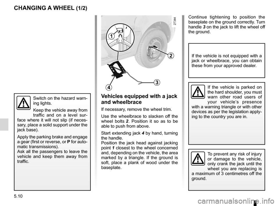 RENAULT KANGOO 2012 X61 / 2.G Owners Manual, Page 180