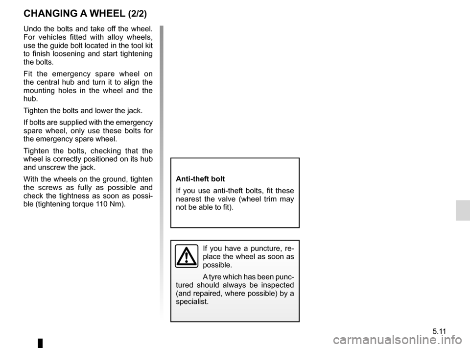 RENAULT KANGOO 2012 X61 / 2.G Owners Manual, Page 181