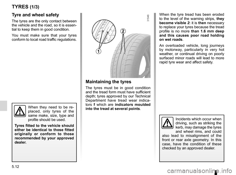 RENAULT KANGOO 2012 X61 / 2.G Owners Manual, Page 182