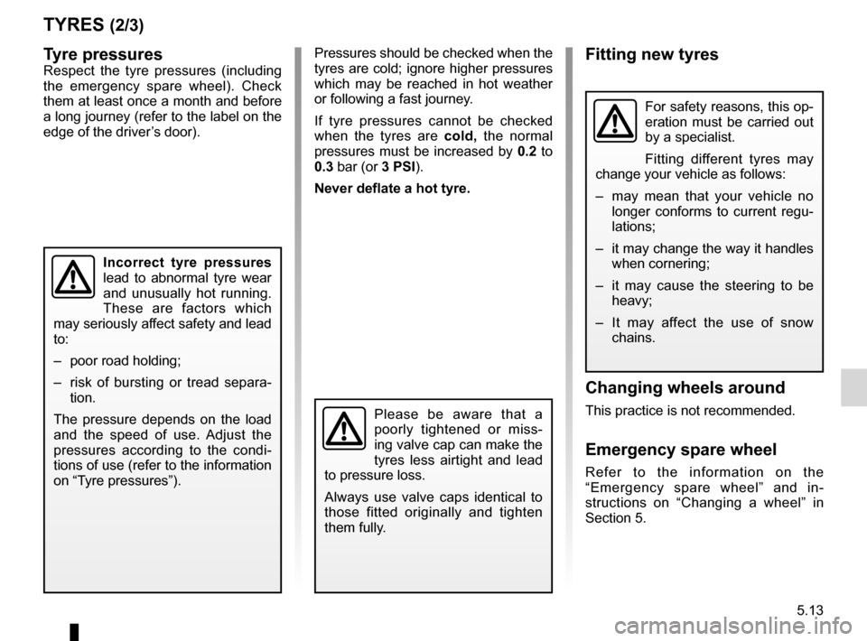 RENAULT KANGOO 2012 X61 / 2.G Owners Manual, Page 183