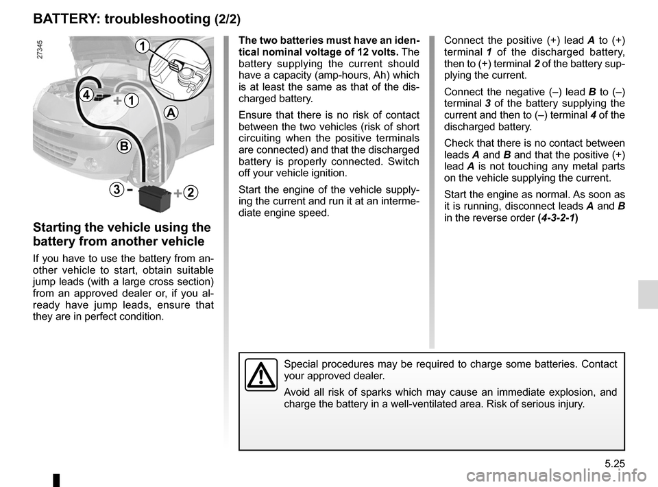 RENAULT KANGOO 2012 X61 / 2.G Owners Manual, Page 195
