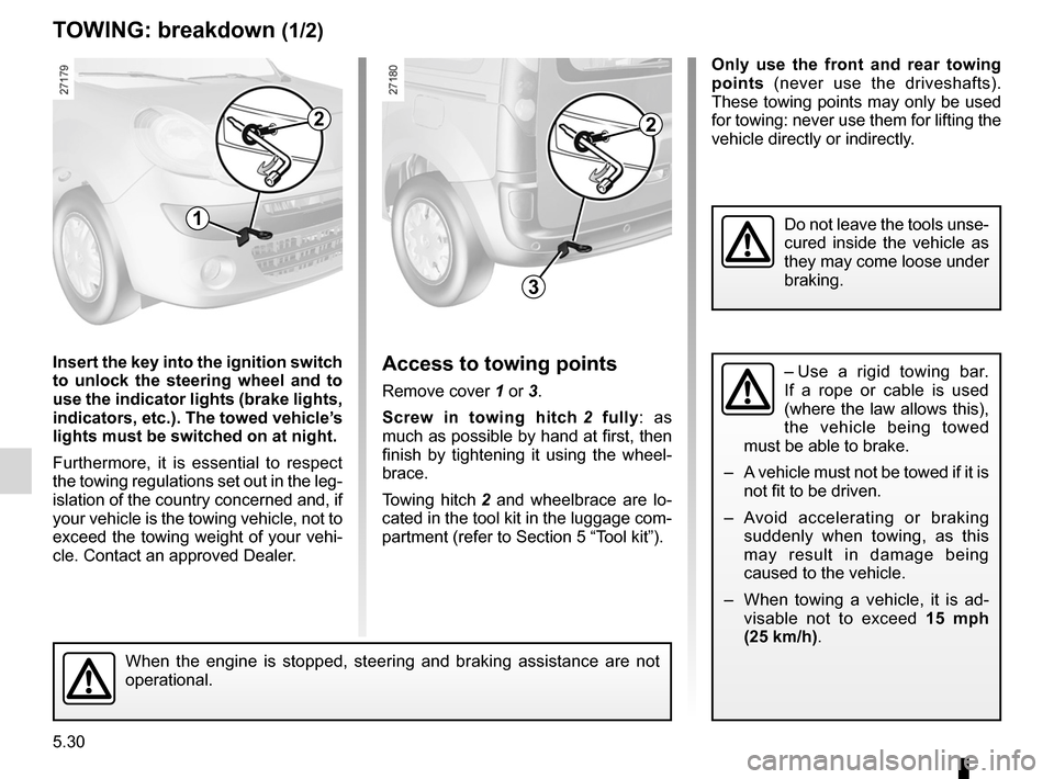 RENAULT KANGOO 2012 X61 / 2.G Owners Manual, Page 200