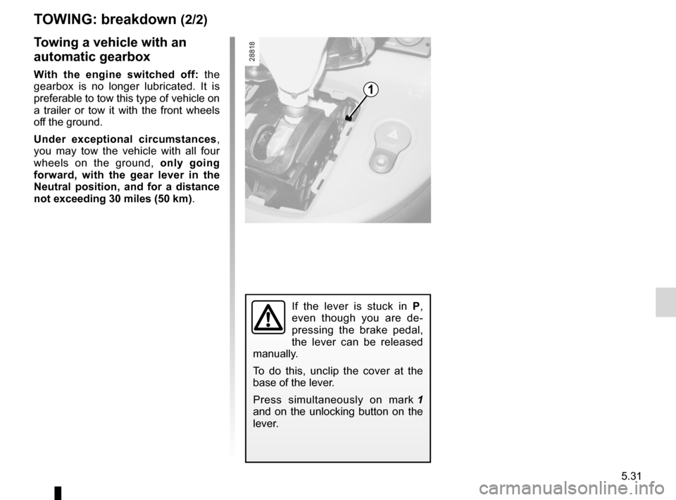 RENAULT KANGOO 2012 X61 / 2.G Owners Manual, Page 201