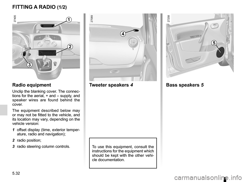 RENAULT KANGOO 2012 X61 / 2.G Owners Manual, Page 202