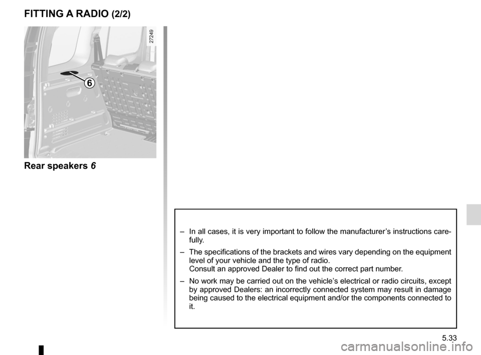 RENAULT KANGOO 2012 X61 / 2.G Owners Manual, Page 203