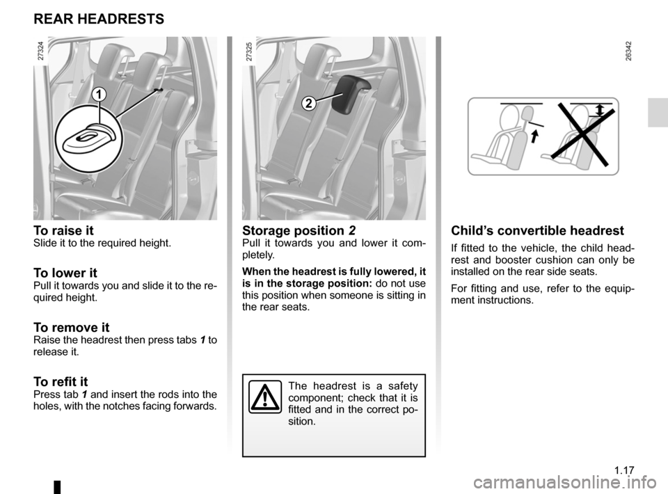 RENAULT KANGOO 2012 X61 / 2.G Owners Manual, Page 23