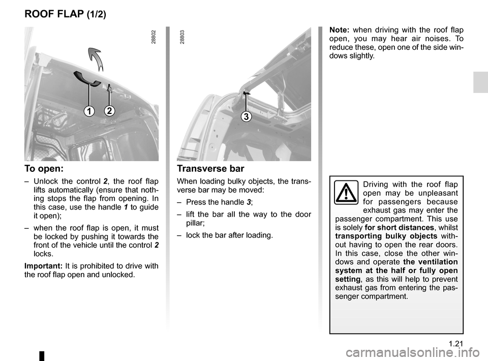 RENAULT KANGOO 2012 X61 / 2.G Owners Manual, Page 27