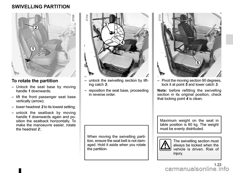 RENAULT KANGOO 2012 X61 / 2.G Owners Manual, Page 29