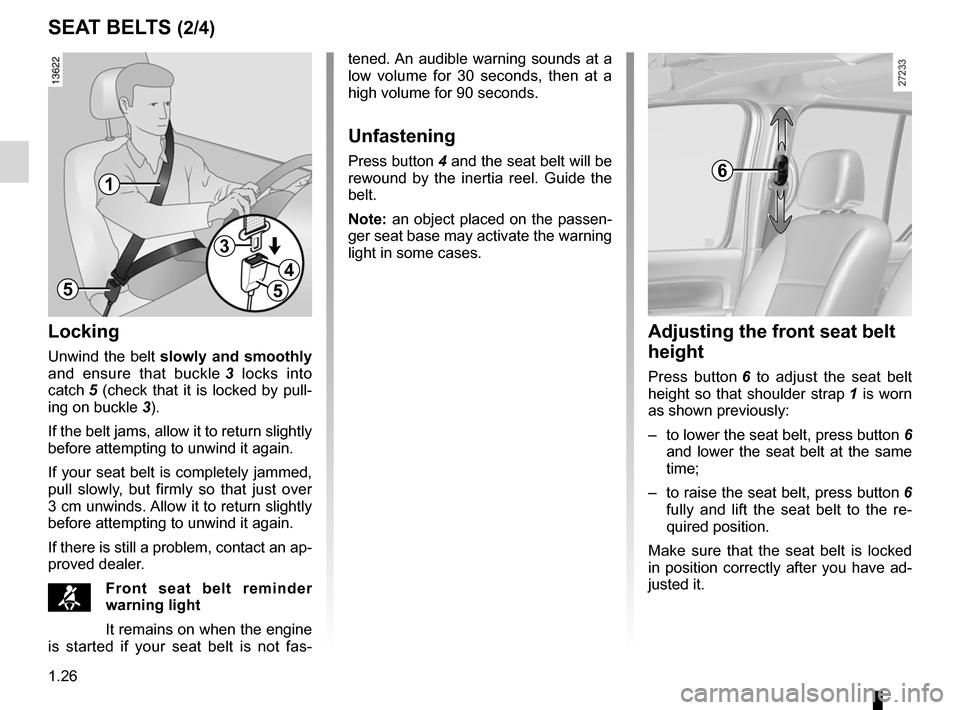 RENAULT KANGOO 2012 X61 / 2.G Owners Manual, Page 32