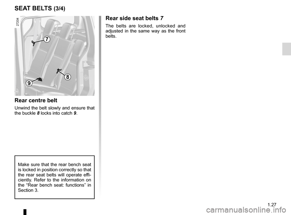 RENAULT KANGOO 2012 X61 / 2.G Owners Manual, Page 33