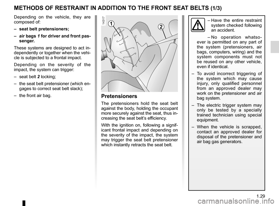 RENAULT KANGOO 2012 X61 / 2.G Owners Manual, Page 35